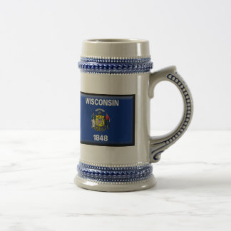 Wisconsin Flag Beer Stein