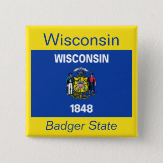 Wisconsin Flag Button