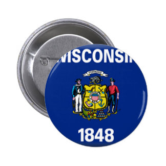 Wisconsin Flag Buttons