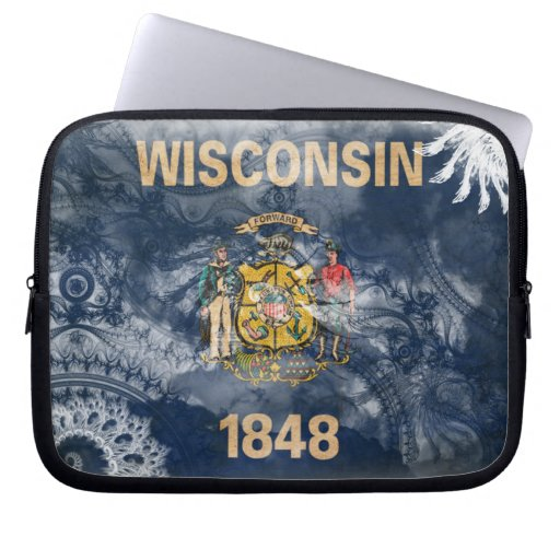 Wisconsin Flag Computer Sleeves