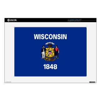 Wisconsin Flag Decal For Laptop