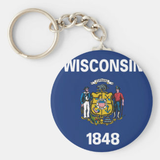 WISCONSIN Flag Design - Keychain