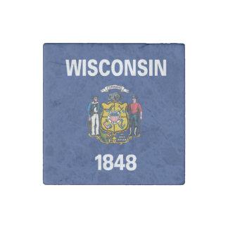 WISCONSIN Flag Design - Stone Magnet
