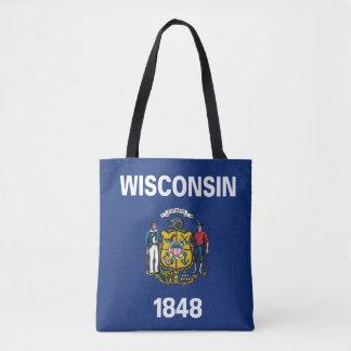 WISCONSIN Flag Design - Tote Bag