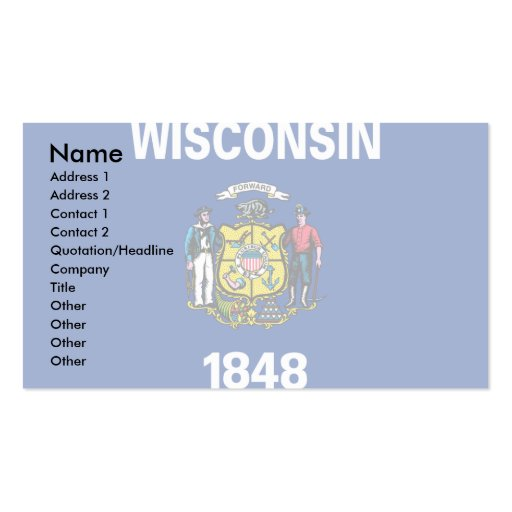 Wisconsin Flag Double-Sided Standard Business Cards (Pack Of 100)