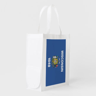 WISCONSIN Flag - Grocery Bag