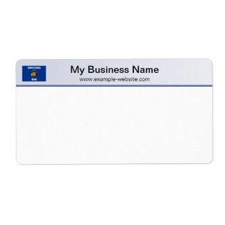 Wisconsin Flag Header Shipping Label