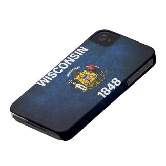 Wisconsin Flag iPhone 4 Case-Mate Case