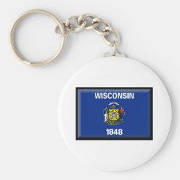 Wisconsin Flag Keychain
