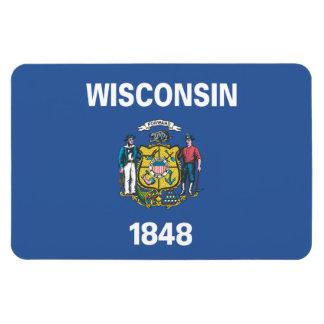 WISCONSIN Flag - Magnet