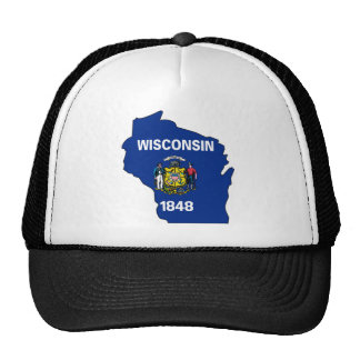 Wisconsin Flag Map Hats