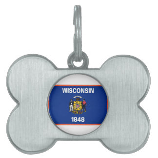 Wisconsin Flag Pet Tag