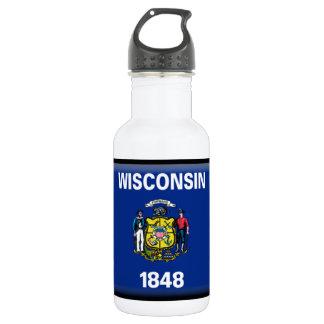Wisconsin Flag 18oz Water Bottle