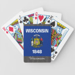 Wisconsin Flag Playing Cards Bicycle Playing Cards