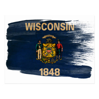 Wisconsin Flag Postcards