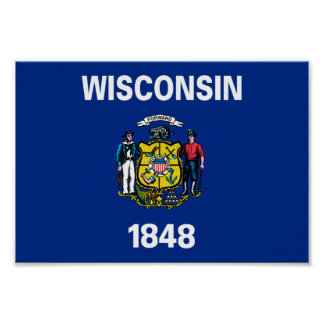 Wisconsin Flag Poster