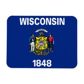 Wisconsin Flag Rectangular Photo Magnet
