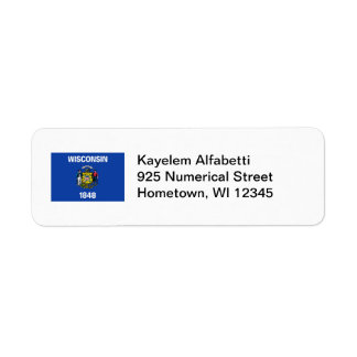 Wisconsin Flag Return Address Label