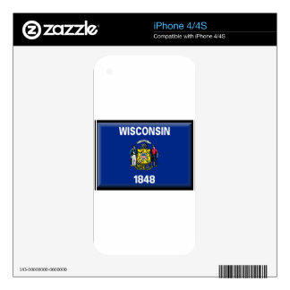 Wisconsin Flag Decal For The iPhone 4