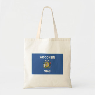 WISCONSIN Flag - Tote Bag
