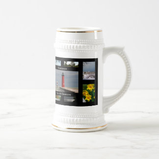 Wisconsin For All Seasons 18 Oz Beer Stein