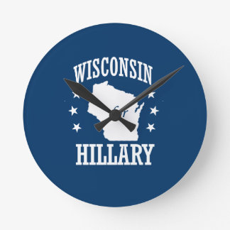 WISCONSIN FOR HILLARY ROUND CLOCKS