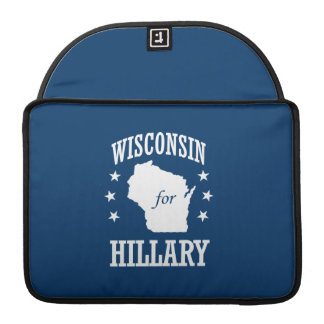 WISCONSIN FOR HILLARY SLEEVE FOR MacBooks
