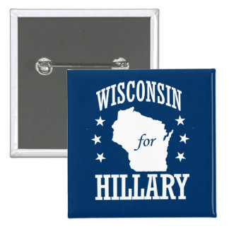WISCONSIN FOR HILLARY PINBACK BUTTON