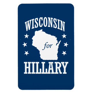 WISCONSIN FOR HILLARY MAGNETS