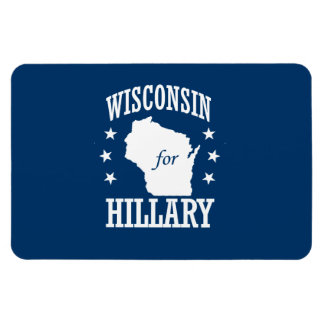 WISCONSIN FOR HILLARY RECTANGLE MAGNETS