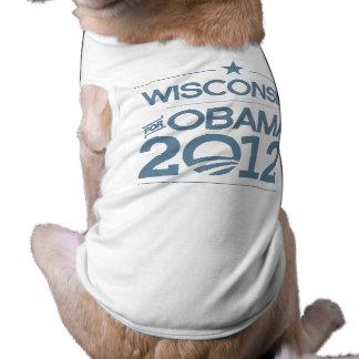 WISCONSIN FOR OBAMA 2012.png Pet T-shirt