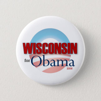 WISCONSIN for Obama Button