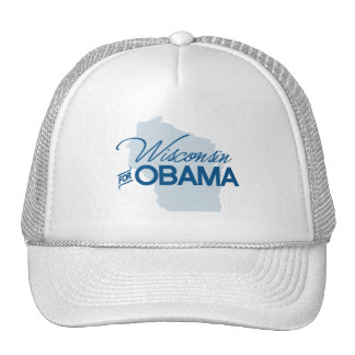 Wisconsin for Obama png Mesh Hats