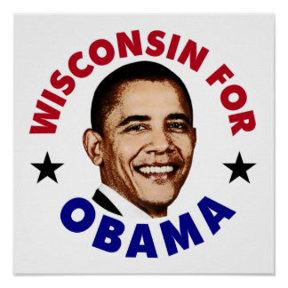 Wisconsin For Obama Poster