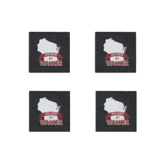 Wisconsin for Scott Walker 2016 Stone Magnet