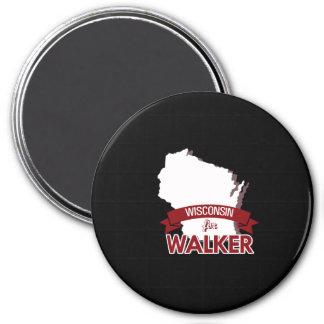 Wisconsin for Scott Walker 2016 3 Inch Round Magnet