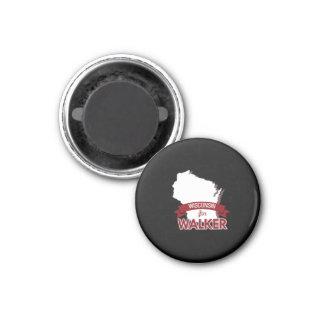 Wisconsin for Scott Walker 2016 1 Inch Round Magnet