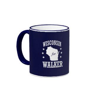 WISCONSIN FOR SCOTT WALKER RINGER COFFEE MUG