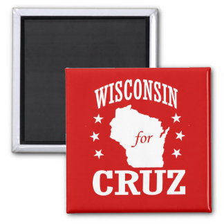 WISCONSIN FOR TED CRUZ 2 INCH SQUARE MAGNET