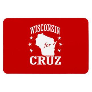 WISCONSIN FOR TED CRUZ RECTANGULAR PHOTO MAGNET