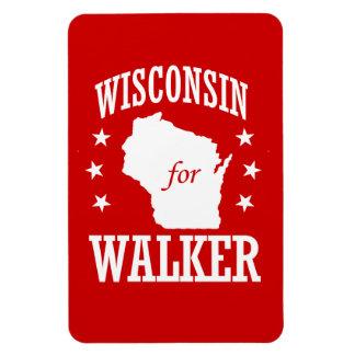WISCONSIN FOR WALKER RECTANGULAR PHOTO MAGNET
