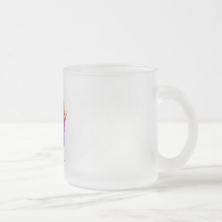 Wisconsin Frosted Glass Coffee Mug