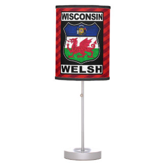Wisconsin Galés Americah Lámpara De Escritorio