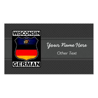 Wisconsin German American Custom Business Cards