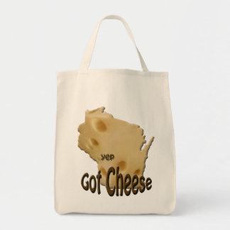 Wisconsin Got Cheese Canvas Grocery Tote Bag