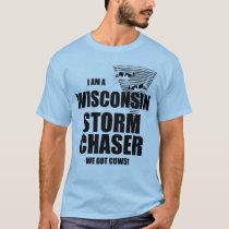 Wisconsin Got Cows Tornado Storm Chaser T-shirt