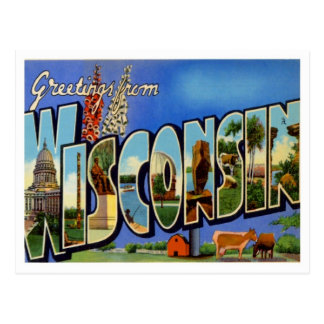 Wisconsin Greetings From US States Postcard