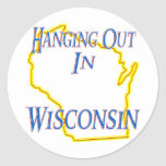Wisconsin - Hanging Out Sticker