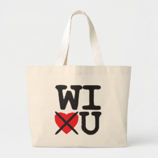 Wisconsin Hates You Large Tote Bag