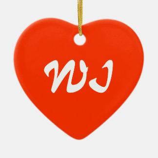 Wisconsin Heart Ornament